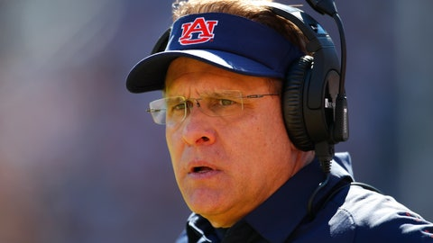 <p>               Auburn head coach Gus Malzahn watches on against Texas A&M during the second half of an NCAA college football game, Saturday, Nov. 3, 2018, in Auburn, Ala. (AP Photo/Todd Kirkland)             </p>