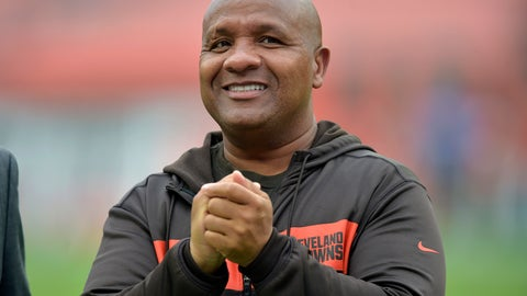 <p>               FILE - In this Sunday, Oct. 7, 2018 file photo, Cleveland Browns head coach Hue Jackson watches before an NFL football game between the Cleveland Browns and the Baltimore Ravens in Cleveland. A person familiar with the hiring says former Browns coach Hue Jackson is re-joining Cincinnati's staff under Marvin Lewis. Jackson, who was fired in Cleveland on Oct. 19, will join the Bengals in a still to be determined role, said the person who spoke to The Associated Press on condition of anonymity because the team has not made the hiring official. (AP Photo/David Richard, File)             </p>