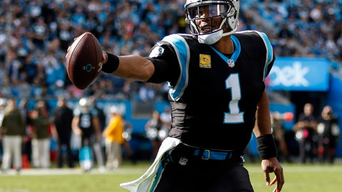<p>               FILE - In this Sunday, Nov. 4, 2018, file photo, Carolina Panthers quarterback Cam Newton runs with the football against the Tampa Bay Buccaneers in the second half of an NFL football game in Charlotte, N.C. The Panthers face the Steelers on Thursday in Pittsburgh. (AP Photo/Nell Redmond, File)             </p>