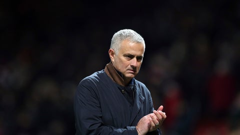 <p>               ManU coach Jose Mourinho applauds at the end of the Champions League group H soccer match between Manchester United and Young Boys at Old Trafford Stadium in Manchester, England, Tuesday Nov. 27, 2018. (AP Photo/Jon Super)             </p>