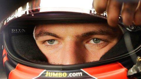 <p>               Red Bull driver Max Verstappen, of Netherlands, looks out from inside his car during the second free practice at the Interlagos race track in Sao Paulo, Brazil, Friday, Nov. 9, 2018. (AP Photo/Nelson Antoine)             </p>