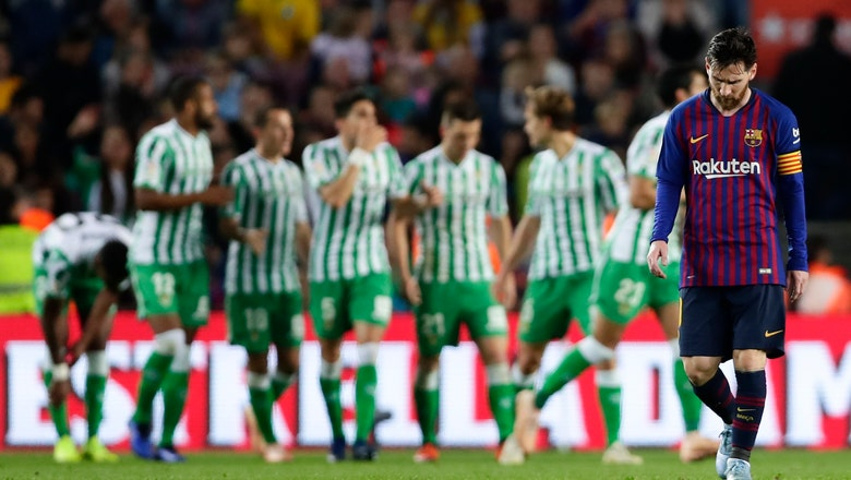 Inspired by Cruyff, Betis coach gets big win at Barcelona