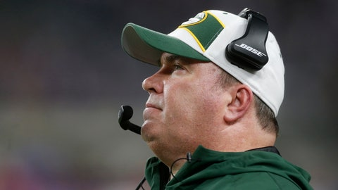 <p>               Green Bay Packers head coach Mike McCarthy watches from the sideline during the second half of an NFL football game against the Minnesota Vikings, Sunday, Nov. 25, 2018, in Minneapolis. The Vikings won 24-17. (AP Photo/Jim Mone)             </p>