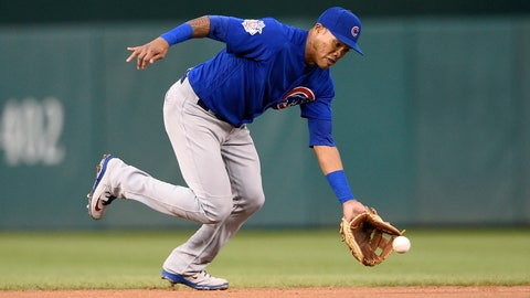<p>               FILE - In this Sept. 8, 2018, file photo, Chicago Cubs shortstop Addison Russell fields a ground ball by Washington Nationals' Anthony Rendon during the fifth inning of the first baseball game of a doubleheader in Washington. The Cubs have offered suspended shortstop Russell a 2019 contract while maintaining his future with the team is not uncertain. Russell is serving a 40-game domestic violence suspension following allegations by his ex-wife. (AP Photo/Nick Wass, File)             </p>