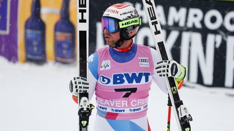 <p>               Switzerland's Beat Feuz reacts after finishing a Men's World Cup downhill skiing race Friday, Nov. 30, 2018, in Beaver Creek, Colo. (AP Photo/John Locher)             </p>