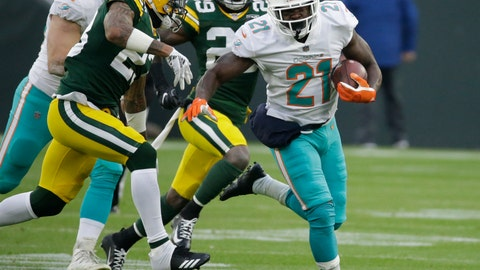 <p>               FILE - In this  Sunday, Nov. 11, 2018 file photo, Miami Dolphins' Frank Gore runs during the first half of an NFL football game against the Green Bay Packers in Green Bay, Wis. No hard feelings, but ageless running back Frank Gore is looking forward to facing his former team Sunday when the Dolphins play at Indianapolis. Gore played for the Colts last season, and at 35 he has no plans to retire. (AP Photo/Mike Roemer, File)             </p>