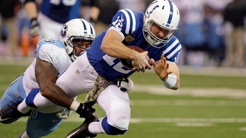 "<p>               FILE - In this Nov. 20, 2016, file photo, Indianapolis Colts quarterback Andrew Luck (12) is tackled by Tennessee Titans defensive tackle Jurrell Casey during the first half of an NFL football game in Indianapolis. Since the Colts drafted Luck with the No. 1 overall pick in 2012, he's started nine games against he Titans and never lost. So this time, the Titans are going with a completely different strategy in hopes of outwitting an old nemesis. ""For me it's always personal going against this guy,"" said Casey, the Titans' three-time Pro Bowl defensive lineman whose struggles against Luck also include two college losses. ""I'm always talking mess but right now I can't talk too much mess. He's got the upper hand."" (AP Photo/Darron Cummings, File)             </p>"
