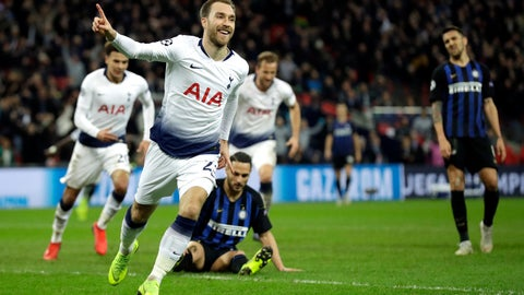 Christian Eriksen keeps Tottenham Hotspur's Champion League hopes alive
