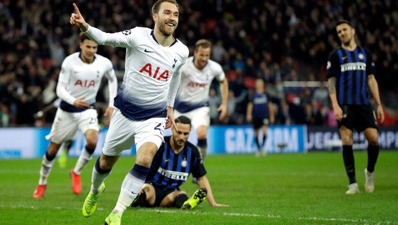 Eriksen keeps Tottenham's CL bid alive, sealing win vs Inter