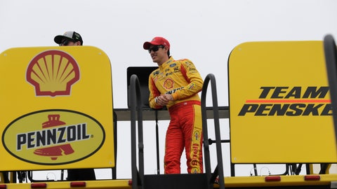 <p>               Joey Logano watches from his hauler during practice for the NASCAR Cup series auto race at the Homestead-Miami Speedway, Friday, Nov. 16, 2018, in Homestead, Fla. (AP Photo/Lynne Sladky)             </p>