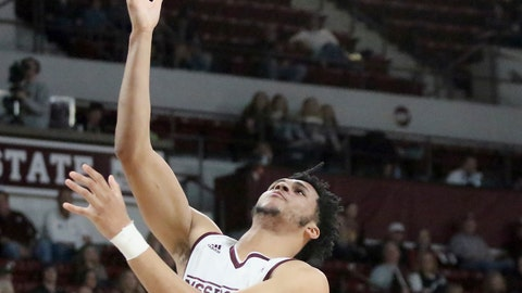 <p>               Mississippi State guard Quinndary Weatherspoon (11) shoots a layup during the first half of their NCAA college basketball game against Hartford on Sunday, Nov. 11, 2018, in Starkville, Miss. (AP Photo/Jim Lyle)             </p>