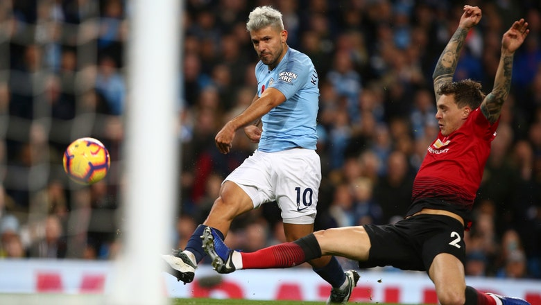 Man City goes 12 points clear of United with 3-1 derby win