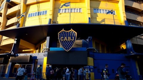 <p>               People stand outside Boca Juniors stadium in Buenos Aires, Argentina Wednesday, Nov. 7, 2018. Boca Juniors will face Play River Plate for the Copa Libertadores final match. (AP Photo/Natacha Pisarenko)             </p>