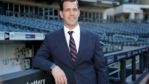<p>               New York Mets new general manager Brodie Van Wagenen poses at CitiField Tuesday, Oct. 30, 2018, in New York. (AP Photo/Frank Franklin II)             </p>