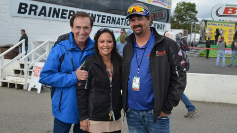 <p>               In this Aug. 2018 photo, Jed Copham, right, along with his wife Kristi and Forrest Lucas, owner and founder of Lucas Oil Products, which is the title sponsor of BIR's Lucas Oil NHRA Nationals each year pose for a photo.  Jed Copham, the owner of Brainerd International Raceway in Minnesota has died in a swimming accident off the coast of Florida. Jed Copham was 46. The raceway says Copham had been swimming from his parents' boat near Fort Myers when he went missing. The Lee County Sheriff's Office says authorities recovered his body the next day. Copham had owned the raceway near Brainerd in central Minnesota since 2006. (Barry Bergeron/Brainerd International Raceway via AP)             </p>