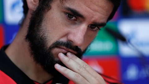 "<p>               FILE - In this Oct. 22, 2018 file photo, Real Madrid's Isco attends a press conference at the team's Valdebebas training ground in Madrid, Spain. Tapped to be the successor of Andres Iniesta and Xavi Hernandez in the long line of Spanish midfielders, nobody doubts the superb vision and passing skills of Francisco ""Isco"" Alarcon.  (AP Photo/Manu Fernandez, file)             </p>"