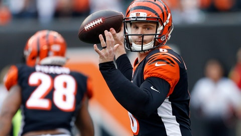 <p>               FILE - In this Sunday, Nov. 25, 2018, file photo, Cincinnati Bengals quarterback Jeff Driskel throws a pass in the second half of an NFL football game against the Cleveland Browns in Cincinnati. On Sunday, the Bengals' backup quarterback will make his first NFL start against the Broncos in a matchup of teams headed in opposite directions. (AP Photo/Gary Landers, File)             </p>