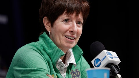 <p>               File-This March 31, 2018, file photo shows Notre Dame head coach Muffet McGraw responding to a question during a news conference for the women's NCAA Final Four college basketball tournament in Columbus, Ohio. College basketball season's starting earlier and earlier and that's something top coaches McGraw and Geno Auriemma aren't thrilled about it. A sport that used to begin practice around Oct. 15 and have its first games at Thanksgiving is now beginning nearly three weeks sooner. Tuesday, Nov. 6, 2018, will be the first day of games with nearly 100 women's contests scheduled and nearly 150 men's ones as well. (AP Photo/Tony Dejak, File)             </p>