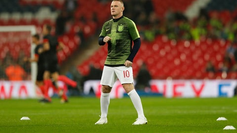 <p>               England's Wayne Rooney warms up prior to the international friendly soccer match between England and the United States at Wembley stadium, Thursday, Nov. 15, 2018. (AP Photo/Alastair Grant)             </p>
