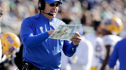 <p>               FILE - In this Saturday, Oct. 13, 2018, file photo, Pittsburgh head coach Pat Narduzzi calls a play during the first half of an NCAA college football game against Notre Dame in South Bend, Ind. Pittsburgh faces Virginia on Friday. (AP Photo/Darron Cummings, File)             </p>