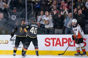 Eakin scores 2, Fleury gets shutout as Vegas beats Ducks 5-0