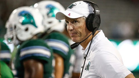 """<p>               File-This Oct. 21, 2018, file photo shows Tulane head coach Willie Fritz on the sideline during an NCAA college football game against South Florida in New Orleans, La. One year after coming up a yard short of bowl eligibility, Tulane aims to avoid cutting it so close this time. The Green Wave needs a victory over visiting Navy on Saturday, Nov. 24, 2018, to reach the six-victory plateau, which would virtually assure Tulane its first bowl bid since the 2013 season and only its third since 2002. """"We've increased our conference wins. Getting to a bowl game would be big for us,"""" third-year Tulane coach Willie Fritz said.  (AP Photo/Derick E. Hingle, File)             </p>"""