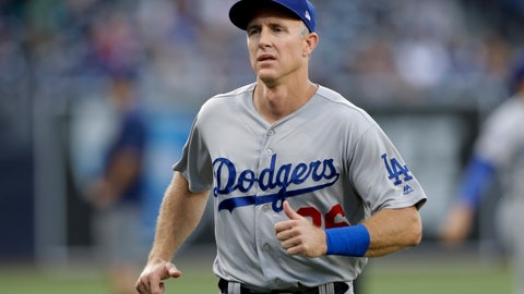 <p>               FILE - In this July 12, 2018, file photo, Los Angeles Dodgers second baseman Chase Utley gets ready for the team's baseball game against the San Diego Padres in San Diego. Utley has been released by the Dodgers so he can officially retire after 16 years in the major leagues. The veteran second baseman said in July he would retire at season's end in order to be a full-time dad to his two young sons. He turns 40 next month.(AP Photo/Gregory Bull, File)             </p>