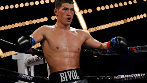 <p>               FILE - In this Saturday, March 3, 2018 file photo, Dmitry Bivol, of Russia, looks on against Sullivan Barrera, of Cuba, during their WBA light heavyweight title boxing match in New York. Dmitry Bivol knew where he wanted to go in his boxing career  straight to the top of one of the HBO cards he used to watch replays of while growing up in Russia. Now Bivol is a light heavyweight champion and on Saturday night, Nov. 24, 2018 he'll finally be an HBO headliner. He meets former champion Jean Pascal in Atlantic City as the featured bout of HBO's World Championship Boxing series.(AP Photo/Adam Hunger, File)             </p>