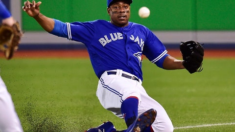 <p>               FILE - In this July 22 2018, file photo, Toronto Blue Jays right fielder Curtis Granderson a foul ball during the fourth inning against the Baltimore Orioles in a baseball game in Toronto. Granderson became the first three-time winner of the Marvin Miller Man of the Year, part of the players' association's Players Choice Awards. The 37-year-old Granderson, the winner in 2009 and 2016, split last season between Toronto and Milwaukee. He was followed in the voting by Arizona first baseman Paul Goldschmidt and Los Angeles Angels outfielder Mike Trout. The award is given annually to a player for on-field performance and contributions to the community that inspire others. (Frank Gunn/The Canadian Press via AP, File)             </p>