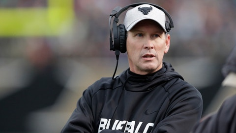 "<p>               FILE - In this Nov. 19, 2016, file photo, Buffalo head coach Lance Leipold walks the sidelines during the first half of an NCAA college football game against Western Michigan, in Kalamazoo, Mich. Coach Lance Leipold interjects when asked how quickly it took him to turn around a two-win team to being on the verge of winning 10 games for the first time since the University at Buffalo began tracking football records. ""Quickly? I don't know if it seems like quickly some days,"" Leipold said with a chuckle, referring to the two years that have passed since the Bulls bottomed out in his second season on the job. (AP Photo/Carlos Osorio, File)             </p>"