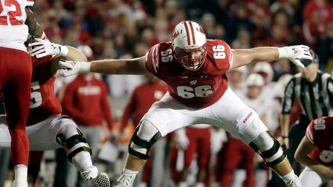 <p>               In this Oct. 6, 2018, file photo, Wisconsin's Beau Benzschawel blocks during the first half of an NCAA college football game against Nebraska in Madison, Wis. (AP Photo/Morry Gash, File)             </p>
