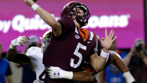 <p>               FILE - In this Oct. 6, 2018, file photo, Virginia Tech quarterback Ryan Willis (5) gets off a pass as Notre Dame defensive lineman Julian Okwara, left, closes in during the first half of an NCAA college football game in Blacksburg, Va. From a skinny high school recruit who didn't play football until the eighth grade, to one of the fiercest and most disruptive pass rushers in the country, Notre Dame junior Julian Okwara has come a long way in a short period of time.  (AP Photo/Steve Helber, File)             </p>