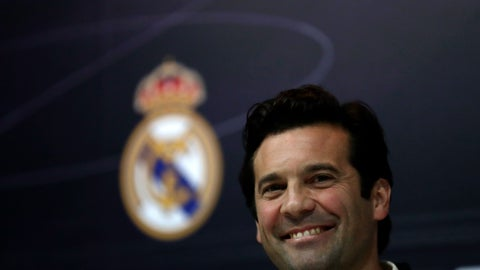 <p>               Real Madrid's interim coach Santiago Solari attends a press conference at the team's Valdebebas training ground in Madrid, Spain, Tuesday, Oct. 30, 2018. Lopetegui was fired by Real Madrid on Monday, and Santiago Solari, coach of Real Madrid B, will take charge for the Copa del Rey match against third-division club Melilla on Wednesday. (AP Photo/Manu Fernandez)             </p>