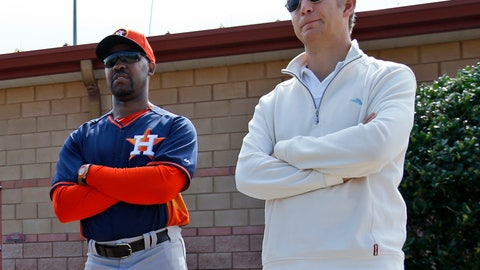 <p>               FILE - In this Feb. 25, 2014, file photo, Houston Astros manager Bo Porter, left, and scouting director Mike Elias stand during a spring training baseball workout in Viera, Fla. Elias has been hired to rebuild the Baltimore Orioles, who traded many of their star players last season before finishing with the worst record in the majors.  He comes to Baltimore after working as scouting director and assistant general manager in Houston, where he helped transform a last-place team into 2017 World Series champions.  (AP Photo/Alex Brandon, File)             </p>