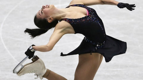 <p>               Russia's Elizaveta Tuktamysheva performs during a Ladies short program of the NHK Trophy Figure Skating in Hiroshima, Western Japan, Friday, Nov. 9, 2018. (AP Photo/Koji Sasahara)             </p>