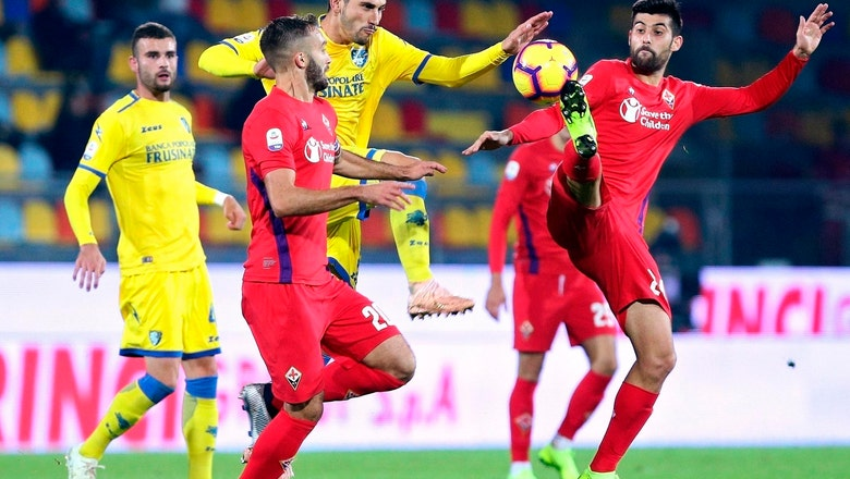 Late goal gives Frosinone 1-1 draw against Fiorentina