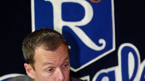 <p>               FILE - In this Dec. 16, 2005 file photo Kansas City Royals senior vice president of baseball operations/general manager Allard Baird speaks during a news conference in Kansas City, Mo. Baird is joining the New York Mets as vice president and assistant general manager of scouting and player development. The 57-year-old was the Royals' general manager from June 2000 to May 2006. (AP Photo/Reed Hoffmann, file)             </p>