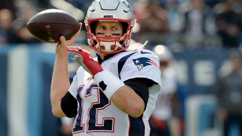 <p>               FILE - In this Nov. 11, 2018 file photo, New England Patriots quarterback Tom Brady warms up before an NFL football game against the Tennessee Titans in Nashville, Tenn.  Coming off a 34-10 loss to Tennessee two weeks ago,  Brady and the Patriots are looking to avoid their second two-game losing streak of the season when they take on the New York Jets on Sunday, Nov. 25.  (AP Photo/Mark Zaleski, File)             </p>