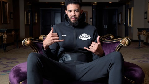 <p>               Los Angeles Lakers center JaVale McGee sits for a portrait after NBA basketball practice Friday, Nov. 16, 2018, in Orlando, Fla. McGee is a very diverse person away from the court. He makes music on his computer and is serious about that as a vocation. He's devoted to philanthropy, having built some wells to bring clean water to parts of Uganda. (AP Photo/Phelan M. Ebenhack)             </p>