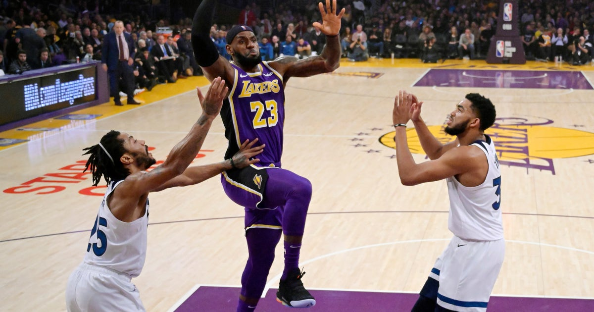 LeBron leads Lakers to 3rd win in 4, 114-110 over Wolves