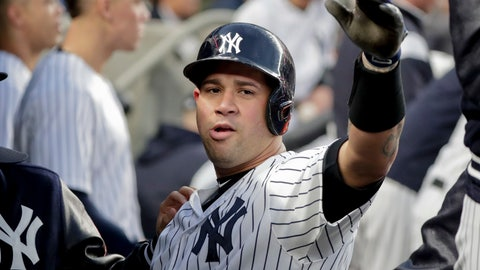 <p>               FILE - In this Tuesday, April 24, 2018 file photo, New York Yankees catcher Gary Sanchez, right, is congratulated by teammates after hitting a solo home run against the Minnesota Twins during the second inning of a baseball game in New York. Gary Sanchez will have surgery on his left shoulder this week, but the Yankees catcher is expected to be ready by opening day.  New York general manager Brian Cashman said Wednesday, Nov. 7, 2018 at the GM meetings that Sanchez would be operated on by Dr. Christopher Ahmad. (AP Photo/Julie Jacobson, File)             </p>