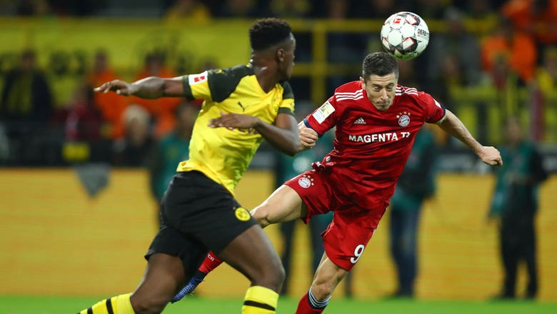 Robert Lewandowski opens the scoring for Bayern Munich vs. Borussia Dortmund
