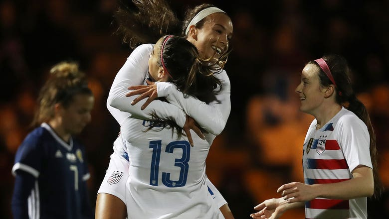 Alex Morgan's stunning volley puts USWNT ahead against Scotland | Women's International Friendly Highlights