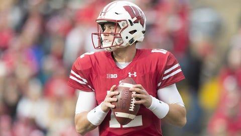 Alex Hornibrook, Badgers quarterback (⬇ DOWN)