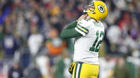 Aaron Rodgers, Packers quarterback (↓ DOWN)