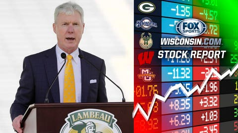 Ted Thompson, former Packers general manager (⬆ UP)