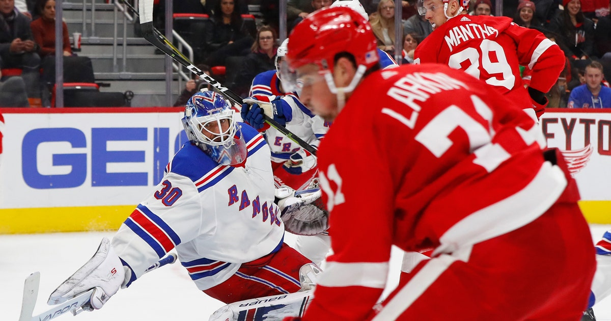 be122175e4d Red Wings score late to tie, then beat Rangers in overtime   FOX Sports