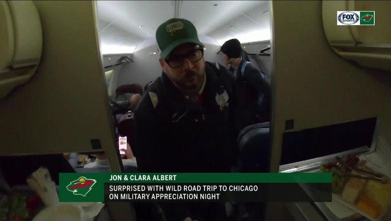 Purple Heart recipient Jon Albert travels with Wild to Chicago
