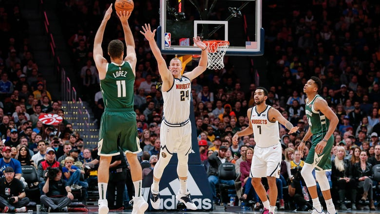 Lopez's career-high 8 3-pointers lifts Bucks past Nuggets