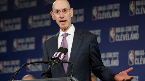 "<p>               File-This Nov. 1, 2018 file photo shows, NBA Commissioner Adam Silver announcing that the Cleveland Cavaliers will host the 2022 NBA All Star game in Cleveland. Off the court the league is going through a lot of change. President Lisa Borders stepped down at the end of the season. The next two top executives also left during the course of the year, leaving a void at the top of the longest running professional women's sports league. ""We're using a professional search firm,"" Silver said of finding the next president. ""We had a lot of interest from people who know the league and contacted us directly and the search firm has a pretty significant pool of candidates.""  (AP Photo/Tony Dejak, File)             </p>"